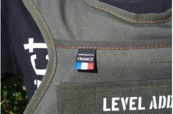 Veste lestée vert Otan | Détail Made In France | LEVEL addict