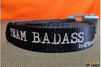 Sangle personnalisée Tean Badass - LEVEL addict