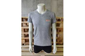 Tee-Shirt Homme gris clair col V