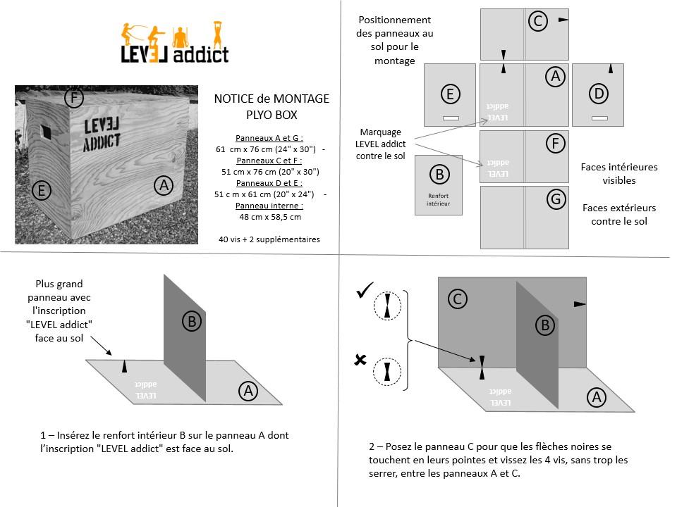 notice de montage Jump Box Level Addict p1