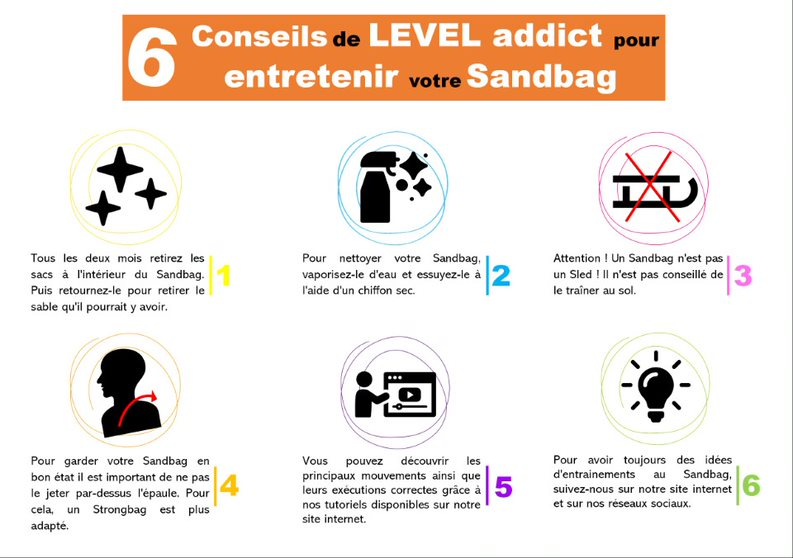 notice d'entretien du Sandbag Level Addict