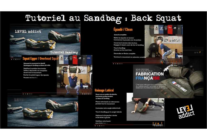 Tutoriel au Sandbag : Back Squat