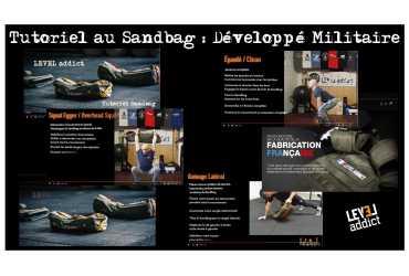 Développé militaire au Sandbag