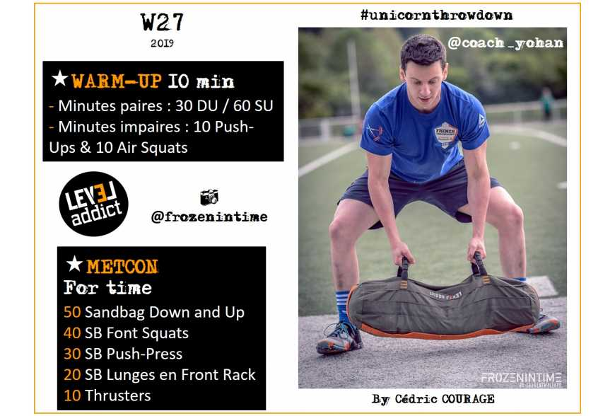 WOD 27-2019 - UNICORN THROWDOWN